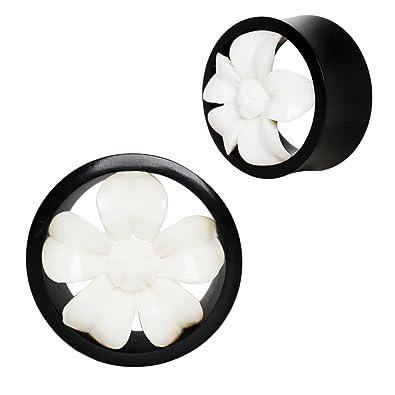 Dilatador de 16 mm, color blanco y negro, para pendientes de ...