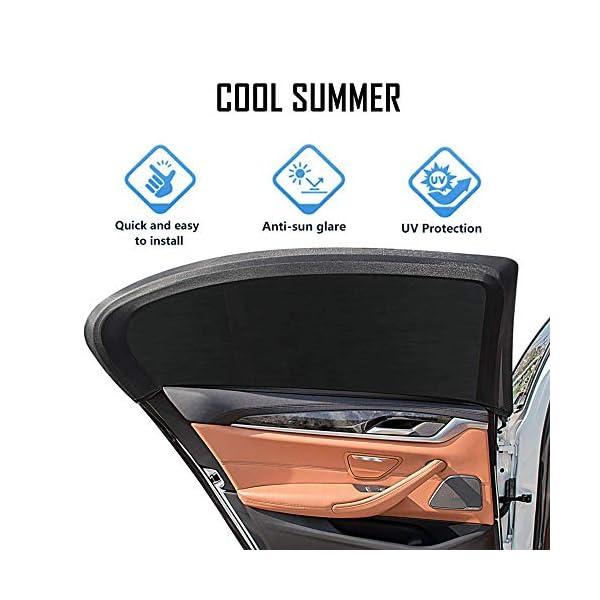 Amaoma 2 Pezzi Tendine Parasole Auto Bambini Tendina Parasole Auto per Finestrino Universali Blocca Raggi UV Anti… 3 spesavip