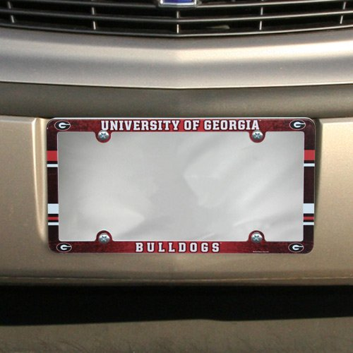 NCAA License Plate with Full Color Frame, University of Georgia