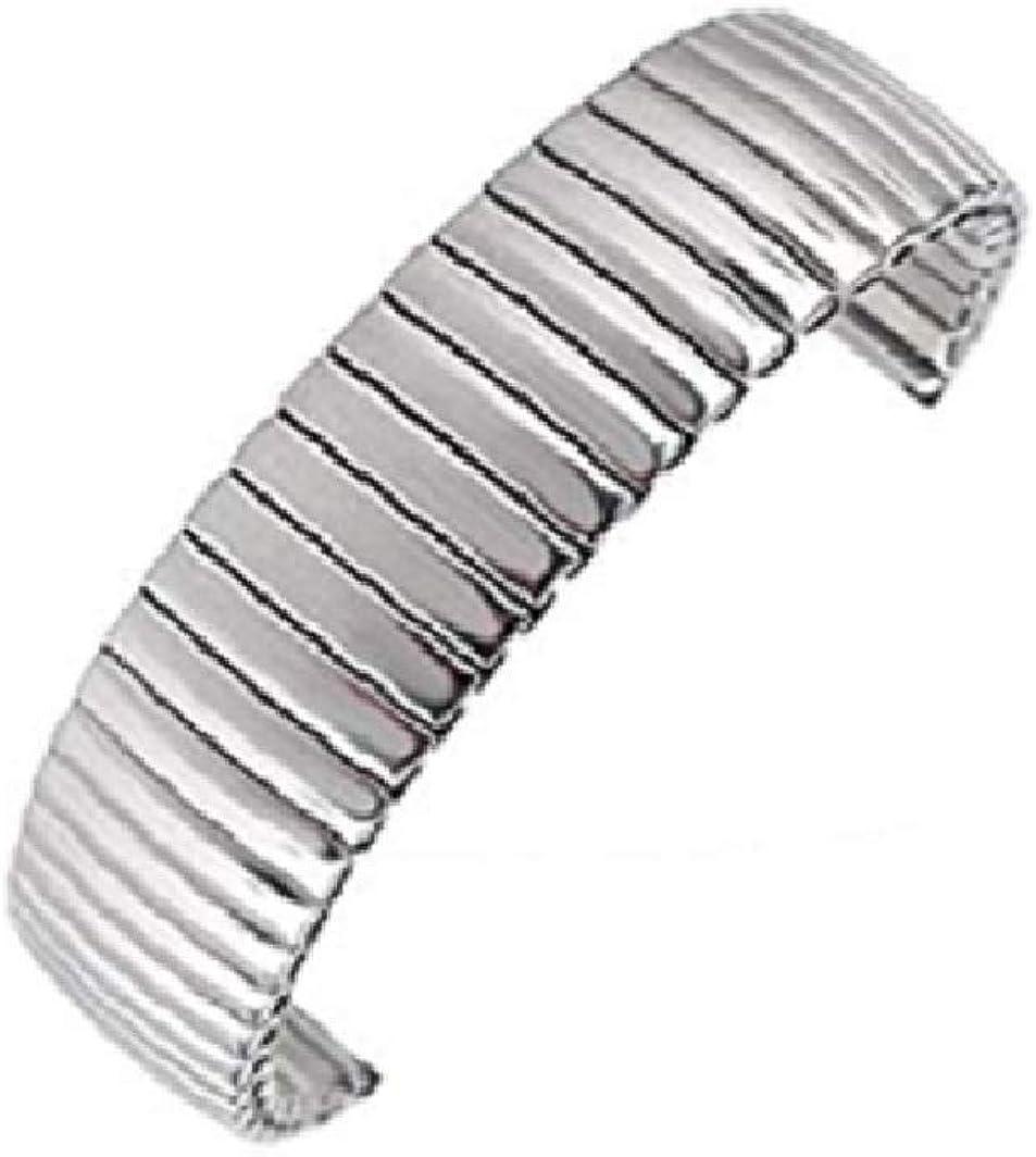 Bracelet Montre Acier Inoxydable 12 mm Extensible Longueur 15 cm Neuf