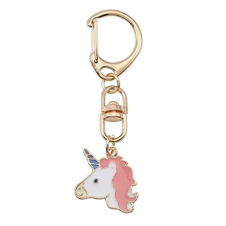 Da.Wa 1X Unicornio Cumpleaños Unicornio Llavero Rosa: Amazon ...