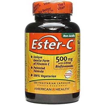 American Health Ester-C With Citrus Bioflavonoids - 500 Mg - 120 Vegetarian Capsules
