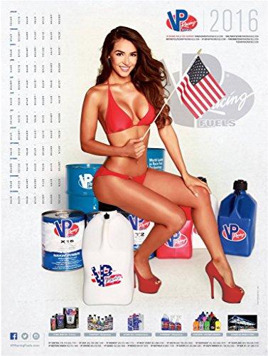 VP Racing Fuels Fuel 2016 18x24 Inch Pin-Up Poster for your Shop Store Drag Race Track Trailer for Auto Bike Mechanic Calendar Poster Hot Pinup Bikini Pic Anna Valencia Univision Telemundo Nuestra Bella Latina Model