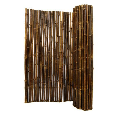 Rolled Fence Color: Black, Size: 48