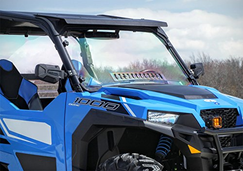 Polaris General Full Hard Coated Windshield With Sliding Vent by Spike Powersports
