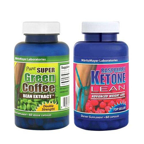 Кетон малины LEAN 1200 мг и чистый зеленый Coffee Bean Экстракт 800 мг * NEW * 120 капсул (2-Pack)