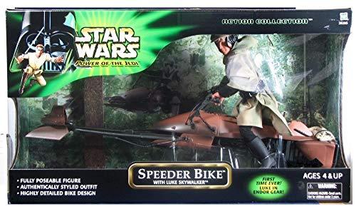 2001 Kenner Star Wars Power of the Jedi Speeder Bike w/ Luke Skywalker