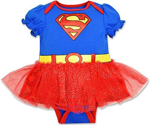 Baby Girls' Supergirl Tutu Bodysuit Costume Dress (Baby Supergirl Halloween Costume)