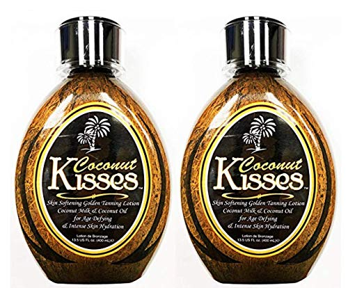 (2 Ed Hardy Coconut Kisses Skin Softening Golden Indoor UV Bed Tanning Lotion )