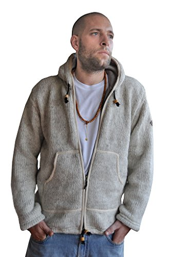 virblatt Mens lined wool jacket M, L, XL Wool sweaters with fleece (Zipper Wool Sweater)