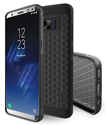 KuGi Samsung Galaxy S8 Case, MS Style Slim Lightweight Premium Flexible Soft TPU Case for Samsung Galaxy S8 2017 Release smartphone. (Black)
