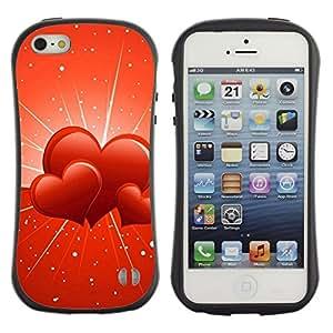 Pulsar iFace Series Tpu silicona Carcasa Funda Case para Apple iPhone 5 / iPhone 5S , Three hearts