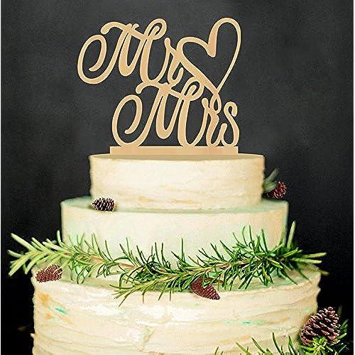 Rustic wedding cake amazon rustic wedding cake topper mr and mrs junglespirit Gallery