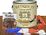 Relica RETQ-Kit128-DarkWalnut-LightWood Retique It Liquid Wood, 128 oz, Dark Walnut