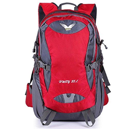 ZC&J Mochila al aire libre, impermeable anti-rayaduras práctico resistente al desgaste de alta calidad al aire libre mochila deportiva, multiusos hombres y mujeres mochila de viaje universal,E,38L E