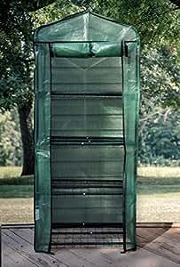 Soporte para portátil de casa Mini invernadero–verde incluye etiquetas para plantas, cuerdas, estacas, cremallera lazos para asegurar su casa verde