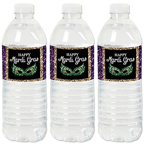 Mardi Gras - Masquerade Party Water Bottle Sticker Labels - Set of ()