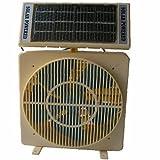 White Solar Powered Room or Desk Fan