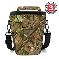 USA Gear SLR/DSLR Camera Case Bag with Top Loading Accessibility, Adjustable Shoulder Sling, Padded Handle, Removeable Rain Cover & Weather Resistant Bottom by USA GEAR