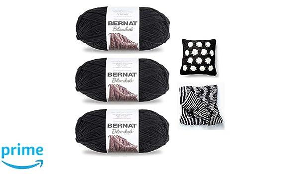 Amazon.com: Bernat Blanket Yarn (5.3 oz) - 3 Pack Bundle ...