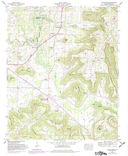 YellowMaps Center Grove AL topo map, 1:24000 Scale, 7.5 X 7.5 Minute, Historical, 1947, Updated 1983, 26.8 x 21.9 in - ()