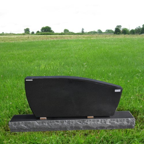 Black Pearl Granite Upright Monument Gravemarker Headstone