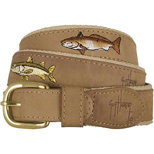 Guy Harvey Leather Belts - Backcountry Slam - Size 34 - (Harvey Leather)