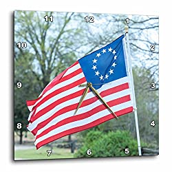 3dRose Danita Delimont - Flags - USA, South Carolina, Camden, Historic Camden, Betsy Ross flag - 15x15 Wall Clock (dpp_259986_3)