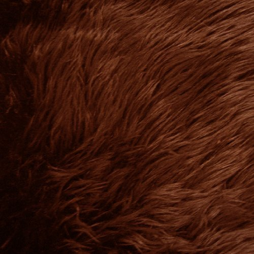 Chocolate Brown Shag Faux Fur Fabric 60