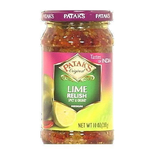 Patak's Lime Relish Medium, 10-Ounce (Pack of 6) by Patak's