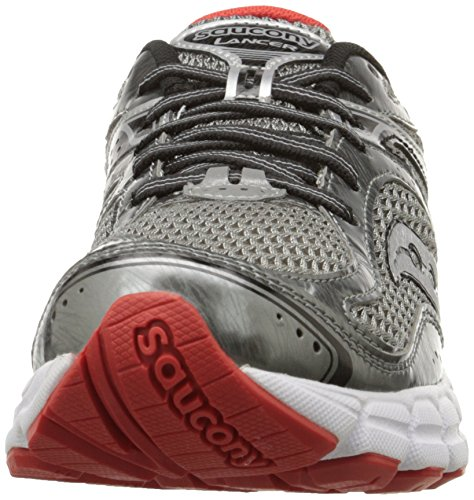 Saucony hombres Lancer Running zapatos,gris/negro/rojo,12 M US