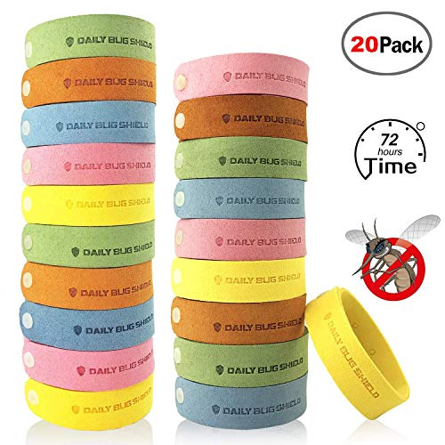 VART Mosquito Repellent Bracelet - 20pcs Insect & Bug Repellent Bands, DEET-Free & Non-Toxic, Indoor Outdoor Protection Bracelet for Kids and Adults