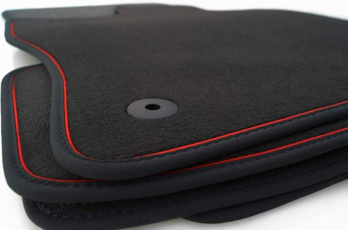 4-teilig Fu/ßmatten Set Q3 Original Qualit/ät Premium Velours Autoteppich anthrazit