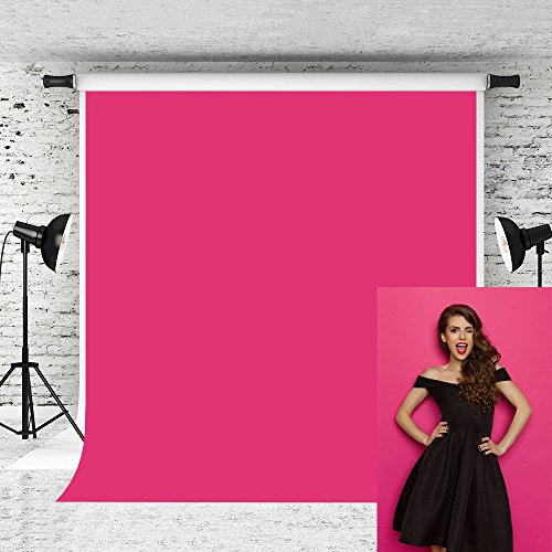 Kate 5x7ft Pink Photography backdrop Solid Pure Portrait Photo Background for Baby Studio Prop by Kate