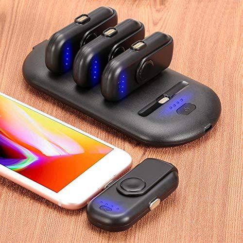 Ballylelly 1000mAh Mini Dedo Magnético Power Bank Cargador portátil para teléfonos móviles