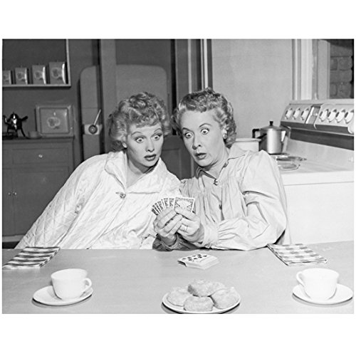 lucille-ball-as-lucy-ricard-with-vivian-vance-as-ethel-looking-at-cards-8-x-10-photo