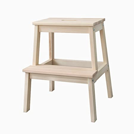 Wondrous Wood Color Dual Use Step Stools Solid Wood Square 2 Step Gmtry Best Dining Table And Chair Ideas Images Gmtryco