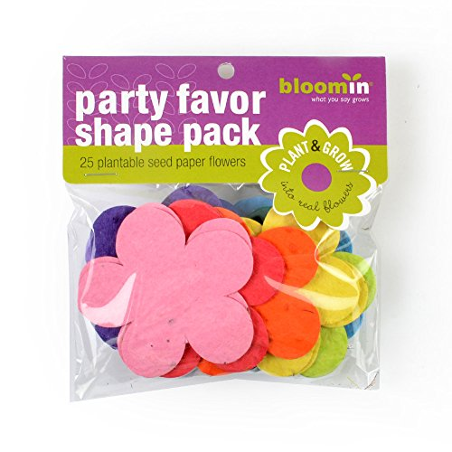Bloomin Seed Paper Shapes Packs - Flower Shapes - 25 Shapes Per Pack - 2.8x2.5