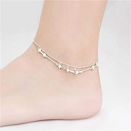 NEW Love Anklet Bracelet Chain Silver Gold Ankie Foot Beach Barefoot Sandal Gift