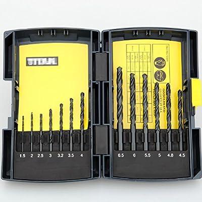 13pcs HSS Drill Bits High Speed Steel W / Metal Case Metric Twist Drill Bits Set