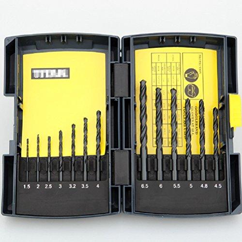 13pcs HSS Drill Bits High Speed Steel W / Metal Case Metric