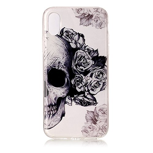 Price comparison product image Urberry Iphone8 Case,  Iphone 8 Cool Skull Soft TPU Case for iPhone 8 with a Free Screen Protector