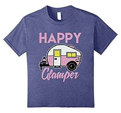 Women's Happy Camper T-Shirt Funny Camping Shirts Cool Tees