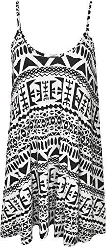 Lungo Grande Donne Salamoia Pianura Abito ® Altalena Azteco Strappy Cioccolato Cami Top 07x4qqwv
