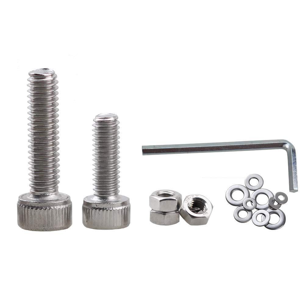 M3 M4 M5 Socket Head Screws TopDirect 500PCS Stainless Steel Flat Head Button Head Hex Socket Head Cap Screws Assortment Kit Bolts and Nuts Kit with Storage Box