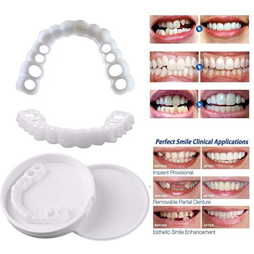 YXT Teeth Whitening Man Woman No BPA No Color Additive Instant Perfect Smile Clip On Veneers Easy to Use Instant Natural Whitener Care Oral Snap On Smile