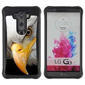 """único patrón Impacto Shock-Absorción y Anti-Arañazos Funda Carcasa Case Bumper Para LG G3 / D855 / D850 / D851 , ( Libertad americana Símbolo del águila calva"""" )"""