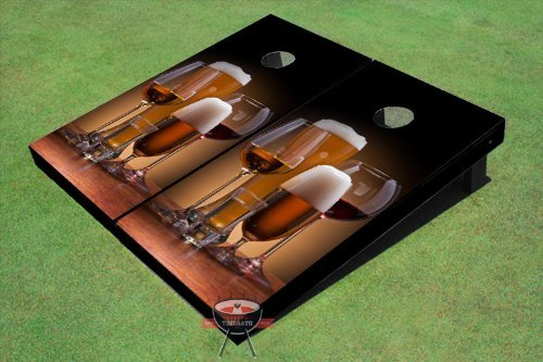 All American Tailgate Drink Assortment Custom Cornhole Boards
