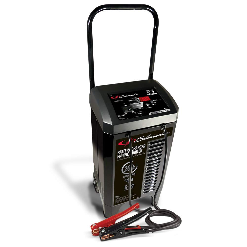 Schumacher SC1309 6V/12V Wheeled Fully Automatic Battery Charger and 40/200A Engine Starter