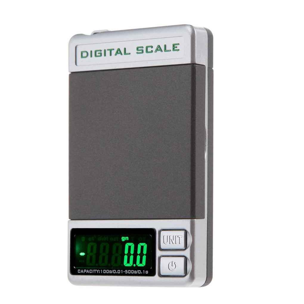 Flushzing 500g / 0.1g 100g / 0.01g de Doble precisión Mini Pesa la Escala del Bolsillo Peso Digital de precisión Herramientas de Pesada